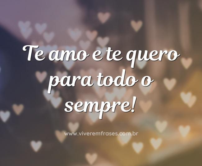 Te amo e te quero