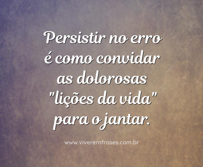 Persistir no erro